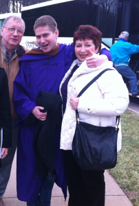 My parents with my brother at his college graduation